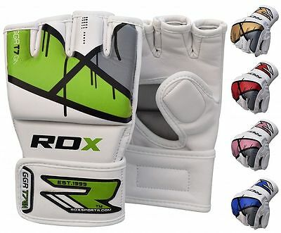 RDX MMA Gants Entrainement Arts Martiaux Cuir Grappling Kickboxing Sparring FR