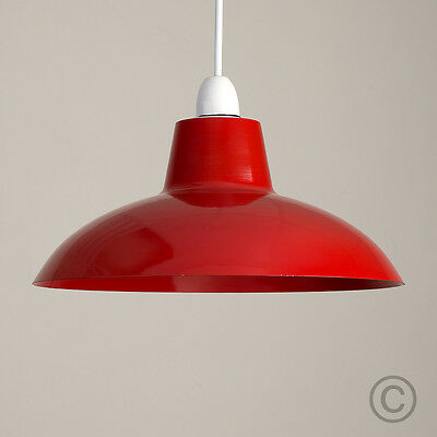 Modern Industrial Style Red Metal Ceiling Light Pendant Shade Retro Lampshade