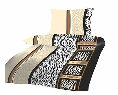 4tlg mf black zebra 135x200 4 jahreszeitenmicrofaser bettw sche neu ovp sparset eur 16 90. Black Bedroom Furniture Sets. Home Design Ideas