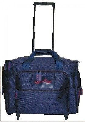 Hemline Deluxe Sewing Machine Trolley Travel Bag  Blue (MR4685NVY)