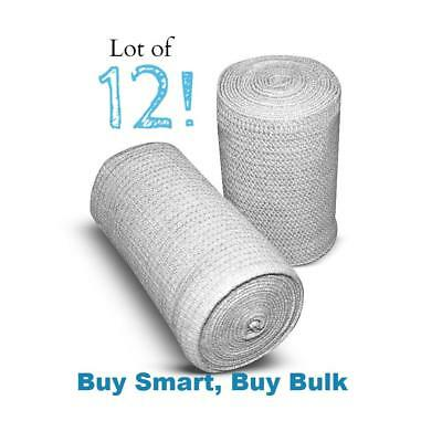 """Unna Boot 4"""" x 10 Yards Flexible Bandage with Zinc Oxide by Primer®  - Lot of 12"""