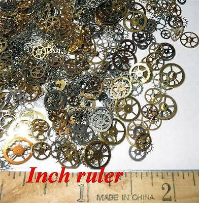 """GEARS ONLY 1/8""""-1/2"""" Sm - lg Watch STEAMPUNK Wheels Cogs Parts Pieces Up to 100"""