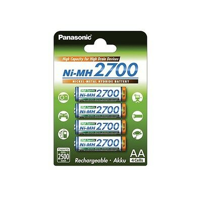4x Panasonic High Capacity Akku AA NiMH - 4er-Blister 2700mAh - BK-3HGAE/4BE