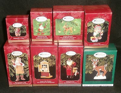 Lot of 8 Hallmark Keepsake Christmas CLUB Ornaments NEW IN BOX