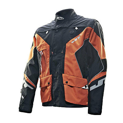 JT Racing Enduro Dual Textile Motorcycle Jacket Orange/Black Men's Large