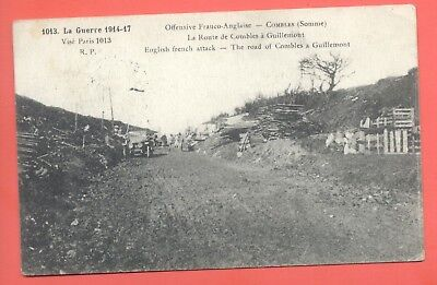 1917 Great Britain Wwi Forces Oas France Fpo 15W Censored Military Postcard