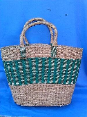 CLOSEOUT SALE ! AUTHENTIC Handmade Ghana BOLGA Market Basket