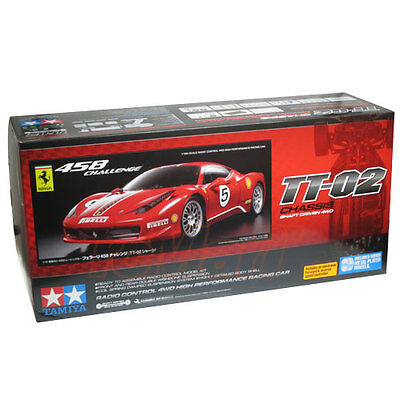 Tamiya 1:10 TT02 Ferrari 458 Challenge ESC EP On Raod Touring RC Cars Kit #58560