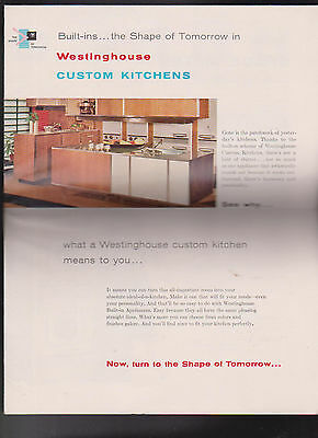 Westinghouse Custom Kitchens Brochure 1960s Built-In Ovens Refrigerators