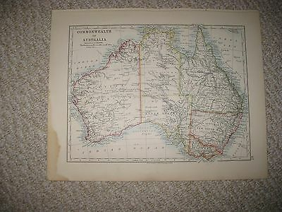 Antique Commonwealth Of Australia & New South Wales Victoria Map Superb Detailed