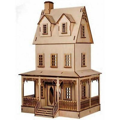 Dolls House Miniature 1:12 Lazer Cut Abriana Country Cottage Flat Pack Kit