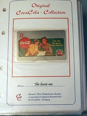 Tolle Sammlung Telefonkarten; Original Coca Cola - Collection; 64 Stück