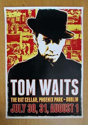 Tom Waits Original Dublin 2008 Concert Poster Ireland