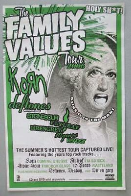 Korn Deftones Flyleaf Family Values Tour 2006 Original Promo Poster