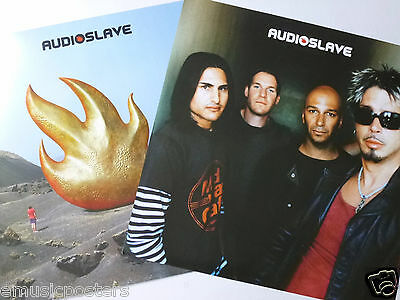 AUDIOSLAVE 2-SIDED U.S. PROMO POSTER - Soundgarden, Rage Against The Machine