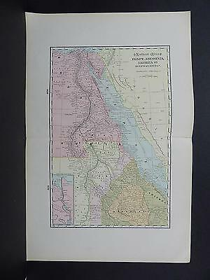 Map of Northeast Africa George F. Cram 1901 Double Page W20#08