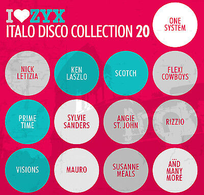 CD ZYX ITALO DISCO COLLECTION 20 by Various Artists 3 CDs