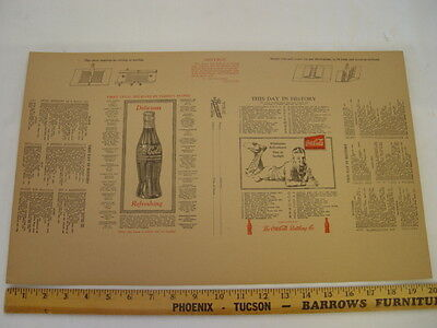 1930 NEVER FOLDED Coca-Cola Delicious Refreshing Coke Paper Book Cover
