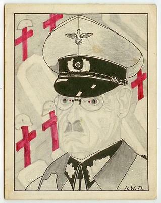 c1940 WWII Germany Field Marshall or General hand-done artwork