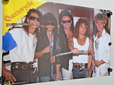 """Queensryche / Orig. Vintage UK Poster / """"1986"""" / exc. new cond. - 23 x 35"""" RARE"""