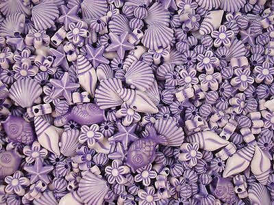 Beads Asst Shapes Purples 25g Craft Jewellery Party Spacer Kids FREE POSTAGE