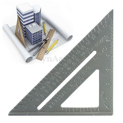 6'' Aluminum Metal Square Protractor Miter Framing Triangle Ruler Measuring Tool