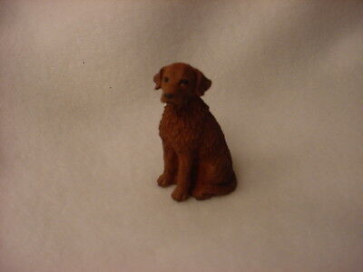 CHESAPEAKE BAY RETRIEVER puppy TiNY FIGURINE Dog MINIATURE Mini Statue CHESSIE