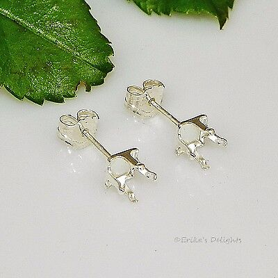 4mm SQUARE Snap Tite Sterling Silver Earring Settings
