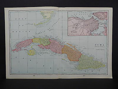 Cuba Map George F. Cram 1901 Double Page R9#50