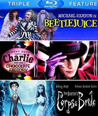 Beetlejuice/charlie And The Chocolate Factory/tim Burton's Corpse Bride Used - V