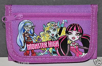 Monster High Wallet Case Pouch Coin Bag Purse Purple Stocking Stuffer Mattel Gif