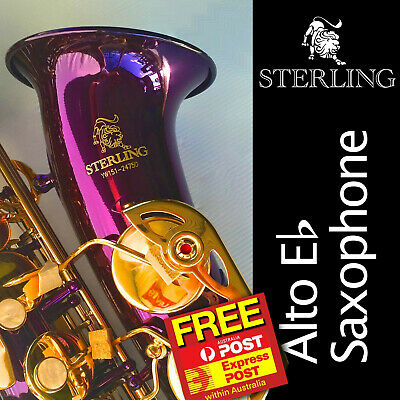 Blue ALTO SAX • BRAND NEW • Eb STERLING Saxophone • With Case • Special •