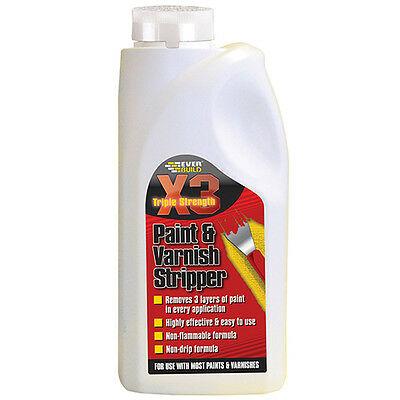 Everbuild X3 Paint and Varnish Stripper Remover - 500ml