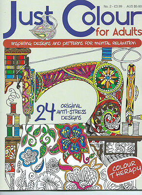 Just Colour BOOK 2 Therapy Anti-Stress Adult Colouring Book Positive & Soothing