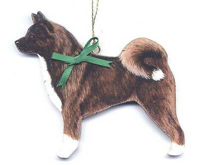 AKITA Wooden Dog ORNAMENT - Personalized w/Name - Hand Crafted!