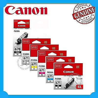 Canon Genuine PGI-670XL/CLI-671XL 6x High Yield Ink Set for MG7760/MG7765/MG7766