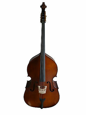 Double Bass, half-carved, 3/4 antique-matte, violin-style new!!