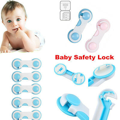 10Pcs Adhesive Baby Child Kids Safety Cabinet Door Fridge Drawer Cupboard Lock