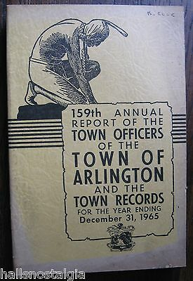 Town of Arlington Ma 1965 Annual Report (450-page book)