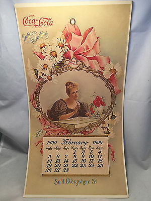 1973 Coca-Cola Coke Front Cover Reproduced of 1899 Calendar for 87th Year!