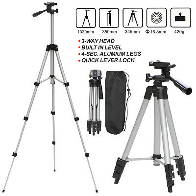 Universal Aluminum Portable Tripod Stand & Bag For Canon Nikon Camera Camcorder!