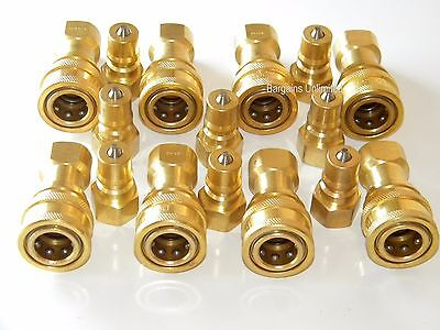 "Carpet Cleaning 1/4"" Brass Quick Disconnect for Wands Hoses"