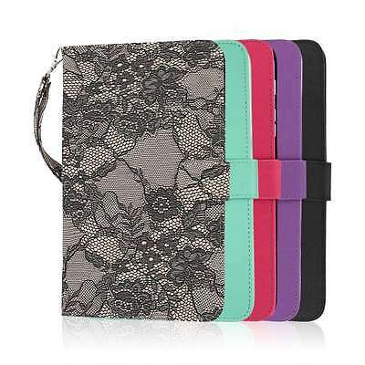 For Samsung Galaxy Tab 4 8.0 PU Leather Card Flip Wallet Wrist Strap Case Cover
