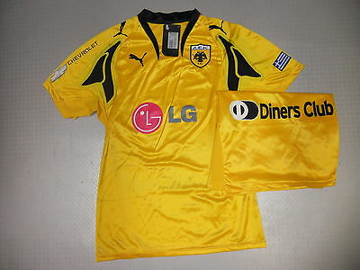 player Jersey AEK Athen Home 07/08 Orig. Puma Size M L XL new player issue