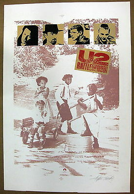 U2 Rattle And Hum 1988 Paramount Pictures PROTOTYPE Movie POSTER + ARTWORK !!!