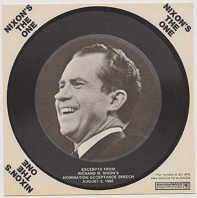 President Richard Nixon 1968 Campaign Record Postcard Nixon's The One Unused  |