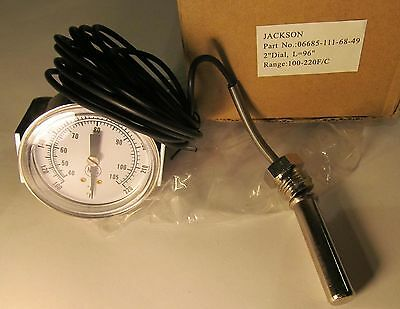 "Jackson 6685-111-68-49 Commercial Dishwasher 2"" Dia Wash Thermometer 100°-220°"