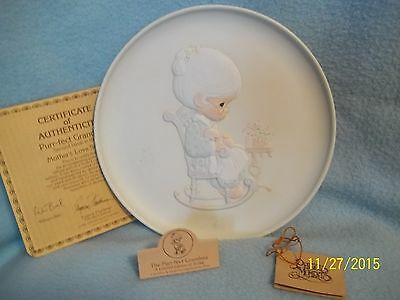 Precious Moments Collector Plate PURRR-FECT GRANDMA 1981 ~ LQQK here >>
