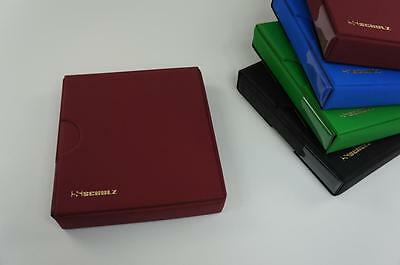 Red Coin Album Collector For 221E British Coins 4 Ring System + Case Red Schulz