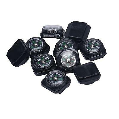 10PCS Mini Portable Compass For Paracord Bracelet Outdoor Camping Hiking Tool